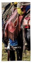 The Idaho Cowboy Western Art By Kaylyn Franks Beach Towel