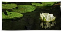 The Illuminated Lotus Beach Sheet