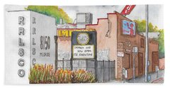 The Improv Comedy Store In Melrose Blvd., West Hollywood, California Beach Towel