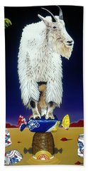 The Intoxicated Mountain Goat Beach Towel
