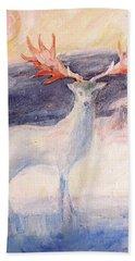 The Irish Elk Beach Towel