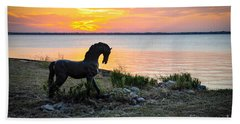 The Iron Horse Beach Towel