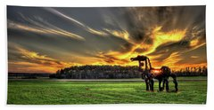 Beach Towel featuring the photograph The Iron Horse Sunset by Reid Callaway