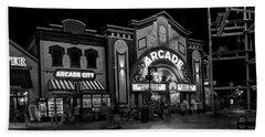 The Island Arcade In Black And White Beach Sheet