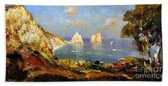 The Island Of Capri And The Faraglioni Beach Sheet