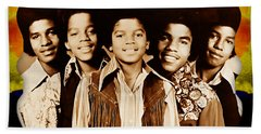The Jackson 5 Collection Beach Sheet by Marvin Blaine