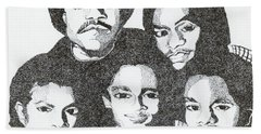 The Jacksons Tribute Beach Towel