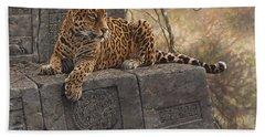 The Jaguar King Beach Towel