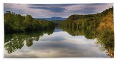 The James River Reflection Beach Towel