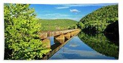 The James River Trestle Bridge, Va Beach Towel