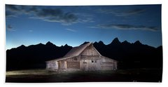 The John Moulton Barn On Mormon Row At The Base Of The Grand Tetons Wyoming Beach Towel