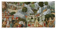 The Journey Of The Magi To Bethlehem Beach Towel