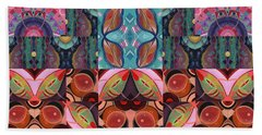 The Joy Of Design Mandala Series Puzzle 7 Arrangement 3 Beach Towel