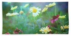 The Joy Of Summer Flowers Beach Towel
