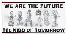 Beach Towel featuring the drawing The Kids Of Tomorrow 1 by Shawn Dall