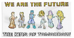 Beach Towel featuring the digital art The Kids Of Tomorrow by Shawn Dall