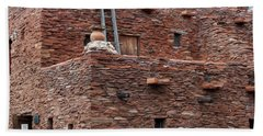 Beach Towel featuring the photograph The Ladders Of The Hopi House by Kirt Tisdale