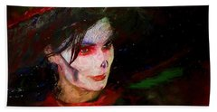 The Lady In Red Beach Towel