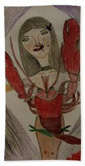 Beach Towel featuring the painting The Lady by Lorna Maza