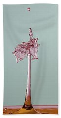 The Lady On The Water Drop Beach Towel