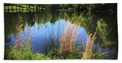 Beach Towel featuring the photograph The Lake At Musgrove Mill by Kelly Hazel