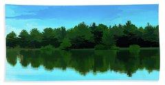 The Lake - Impressionism Beach Sheet