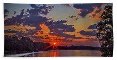 The Lakeshore At Sunrise Beach Towel by Barry Jones
