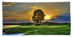 The Landing Golf Course Reynolds Plantation Landscape Art Beach Towel