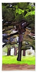 The Landscape With The Leaning Trees Beach Towel