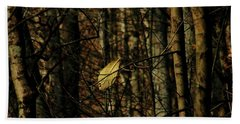 Beach Towel featuring the photograph The Last Leaf by Bruce Patrick Smith
