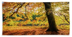 The Last Rays Of Golden Autumn Beach Towel