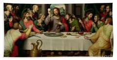 The Last Supper Beach Towel by Vicente Juan Macip