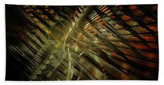 Beach Towel featuring the digital art The Last Vestiges Of Winter by NirvanaBlues