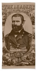The Leader And His Battles - General Grant Beach Towel