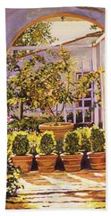 The Lemon Tree Courtyard Beach Towel
