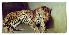The Leopard Beach Towel by John Sargent Noble