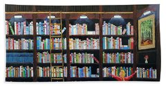 The Library Beach Towel by Mike Caitham