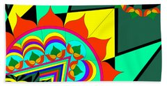 The Life In Colors-i Beach Towel