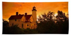 The Light At Dusk Beach Towel