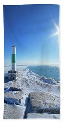 Beach Towel featuring the photograph The Light Keepers by Phil Koch