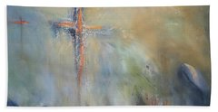The Light Of Christ Beach Towel by Roberta Rotunda