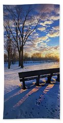 Beach Towel featuring the photograph The Light That Beckons by Phil Koch