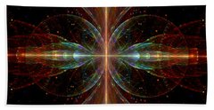 Beach Towel featuring the digital art The Light Within by Lea Wiggins