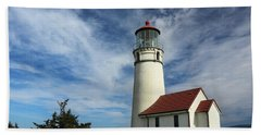 The Lighthouse At Cape Blanco Beach Towel by James Eddy