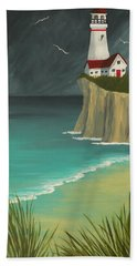 The Lighthouse On The Cliff Beach Sheet
