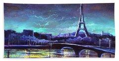 The Lights Of Paris Beach Sheet