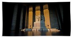 The Lincoln Memorial At Sunrise Beach Sheet