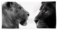 The Lioness And Lion Beach Towel