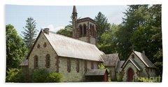 The Little Brown Church In The Vale Beach Towel by Carol Lynn Coronios