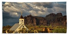 The Little Chapel In The Superstitions  Beach Towel